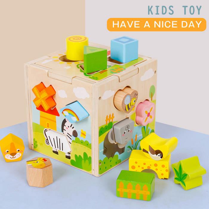 楽しく手先や指先のトレーニングができちゃう 商店 プレゼントにも喜ばれる天然木のおもちゃ 送料無料 型はめパズル 知育玩具 木のおもちゃ 木のパズル パズル ボックス ブロック 動物 積み木 つみき 木製 かたはめ 1歳 知育 3歳 出産祝い おうち遊び 形認識 女の子 孫 2歳 型はめ 男の子 プレゼント お歳暮 おもちゃ 室内遊び こども