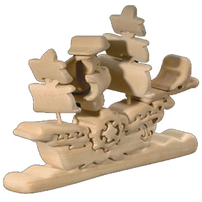 【送料無料】 お買い得商品 ドルフィ イタリア製 木製パズル 「帆船」 | 無垢材 3Dパズル 着色料未使用 ラッピング無料 ハンドメイド 手作り プレゼント ギフト 出産祝い 誕生日プレゼント 玩具 お子様 知育玩具 クリスマス クリスマスプレゼント