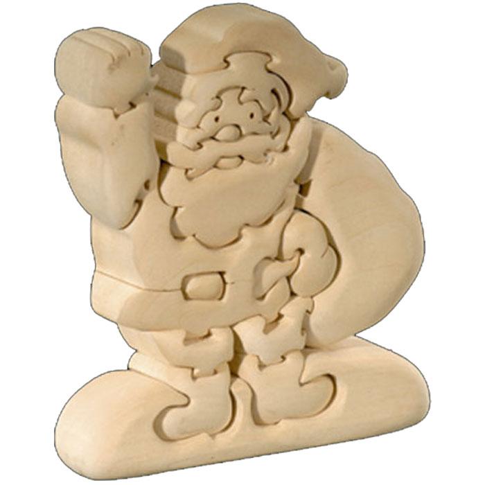 ◇ラッピング無料 立体パズル 木製 ドルフィ DOLFI イタリア製 「サンタクロース」 無垢材 手作り 木彫り おもちゃ クリスマス 誕生日 プレゼント ギフト 男の子 女の子 車や動物や恐竜 かわいいデザイン 軽量で柔らかトゲが出ない西洋菩提樹 4才以上対象