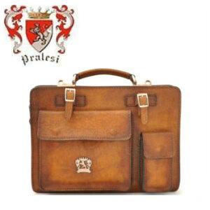 【イタリア製】 プラテージ 本革 バッグ 書類鞄 ブリーフケース 全7色 プラテシ Pratesi イタリアンレザー