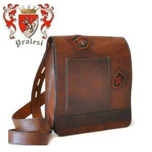 送料無料 イタリア製 プラテージ 本革 バッグ ショルダーバッグ プラテシ Pratesi イタリアンレザー メンズバッグ