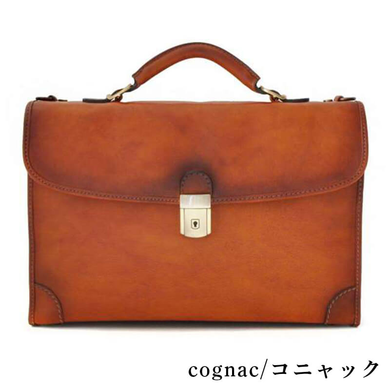 Genuine Leather Business Bag Color Red