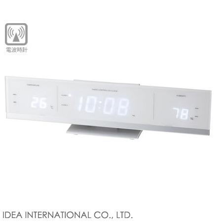 ◆ I.D.E.A idea radio LED temperature humidity clock [White] LCR073-WH