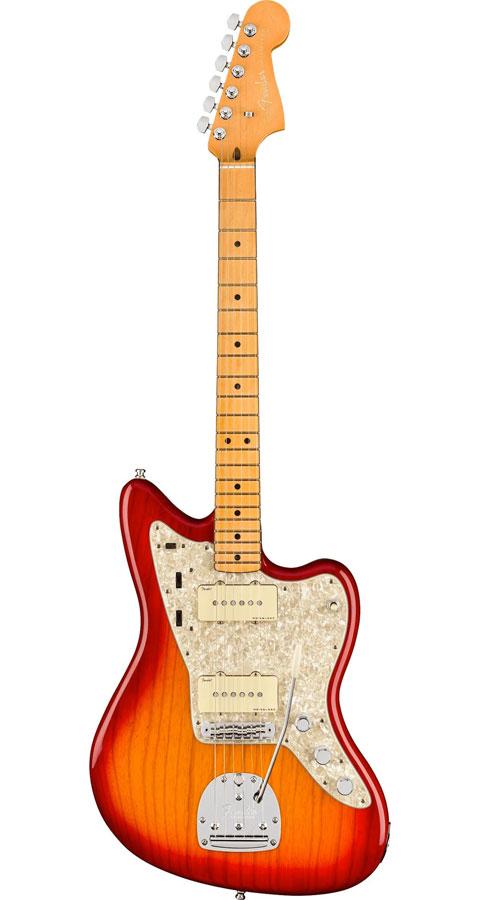 【Maple Fingerboard】 Fender USA(フェンダー)American Ultra Jazzmaster Plasma Red Burst(Ash)