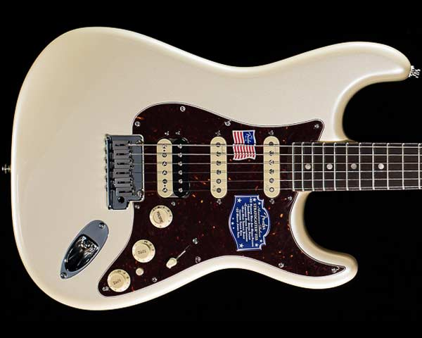 Fender USA(フェンダー)American Deluxe Stratocaster HSS Shawbucker Olympic Pearl