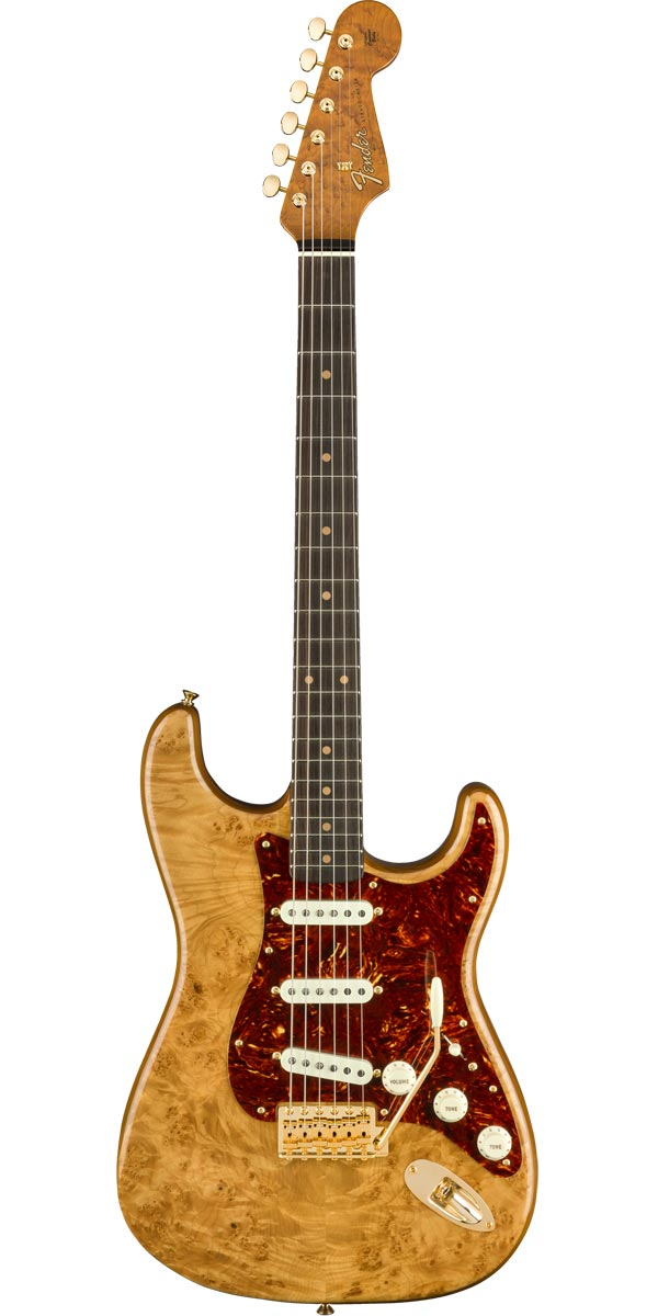Fender Custom Shop 2019 高品質 Artisan Series Natural Aged NOS Stratocaster Maple Burl 安売り