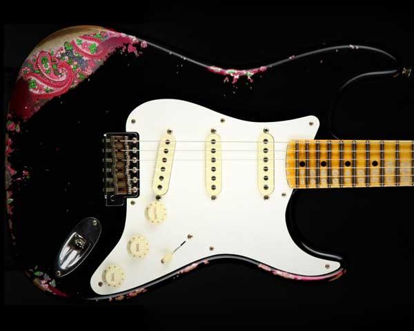 【送料0円】 Fender Custom Paisley Shop 2016 NAMM Limited Over Edition Custom 1957 Stratocaster Heavy Relic Black Over Pink Paisley, いっつここ:f05e45f8 --- scottwallace.com
