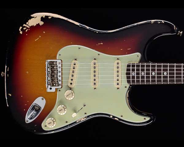 Fender Custom Shop Michael Landau Signature 1968 Relic Stratocaster Bleached 3-Color Sunburst