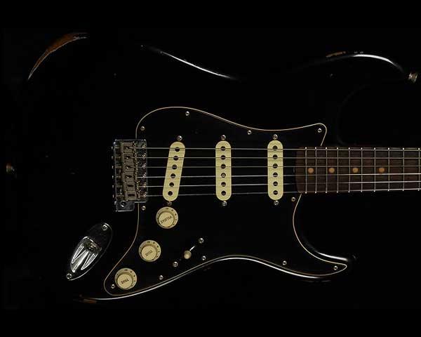 Fender Custom Shop 2017 Limited Black Roasted Dual Mag Stratocaster Relic