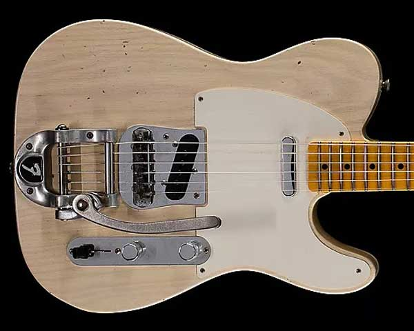 Fender Custom Shop 2017 Limited Edition Twisted Telecaster Journeyman Relic Aged White Blonde