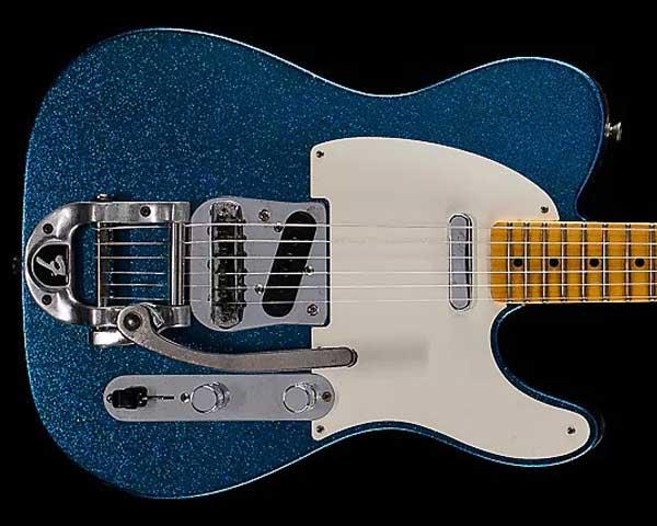 Fender Custom Shop 2017 Limited Edition Twisted Telecaster Journeyman Relic Aged Blue Sparkle
