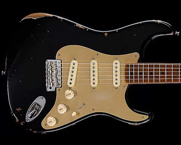 Fender Custom Shop 2017 Limited '56 Fat Roasted Stratocaster Journeyman Relic Aged Black