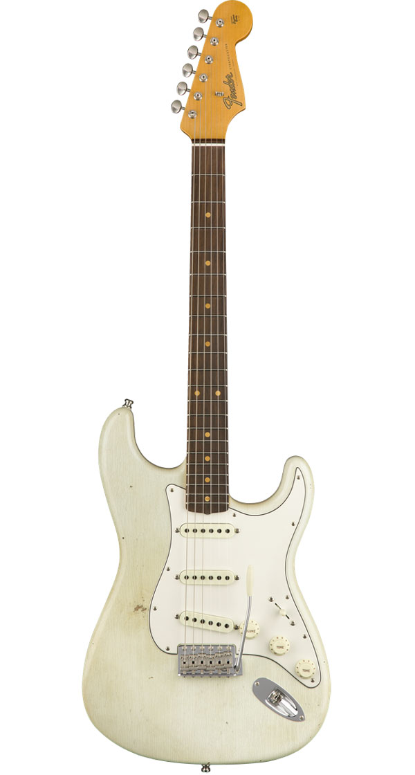 Fender Custom Shop 2018 Postmodern Stratocaster Journeyman Relic Aged Olympic White