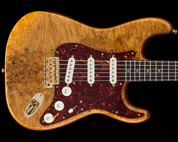 Fender Custom Shop 2019 Artisan Series Maple Burl Stratocaster NOS Aged Natural