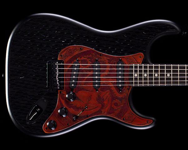 Fender Custom Shop Game of Thrones House Targaryen Stratocaster Dragonglass Black Masterbuilt by Ron Thorn