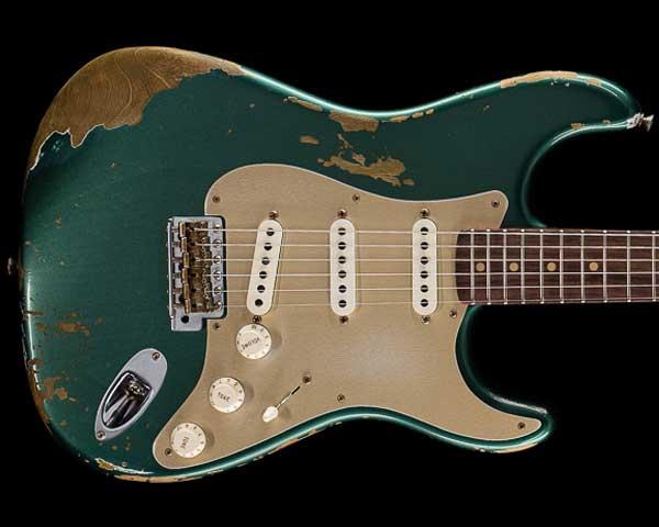 Fender Custom Shop 2017 Limited '59 Stratocaster Heavy Relic Aged Sherwood Green Metallic
