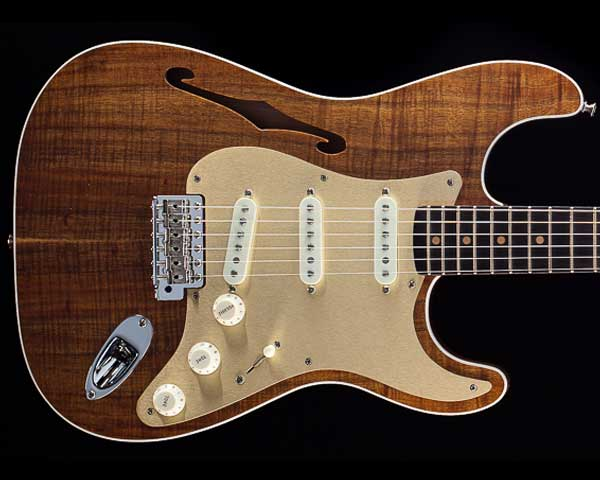 Fender Custom Shop 2017 Limited Koa 至上 NOS 直送商品 Thinline Stratocaster Artisan