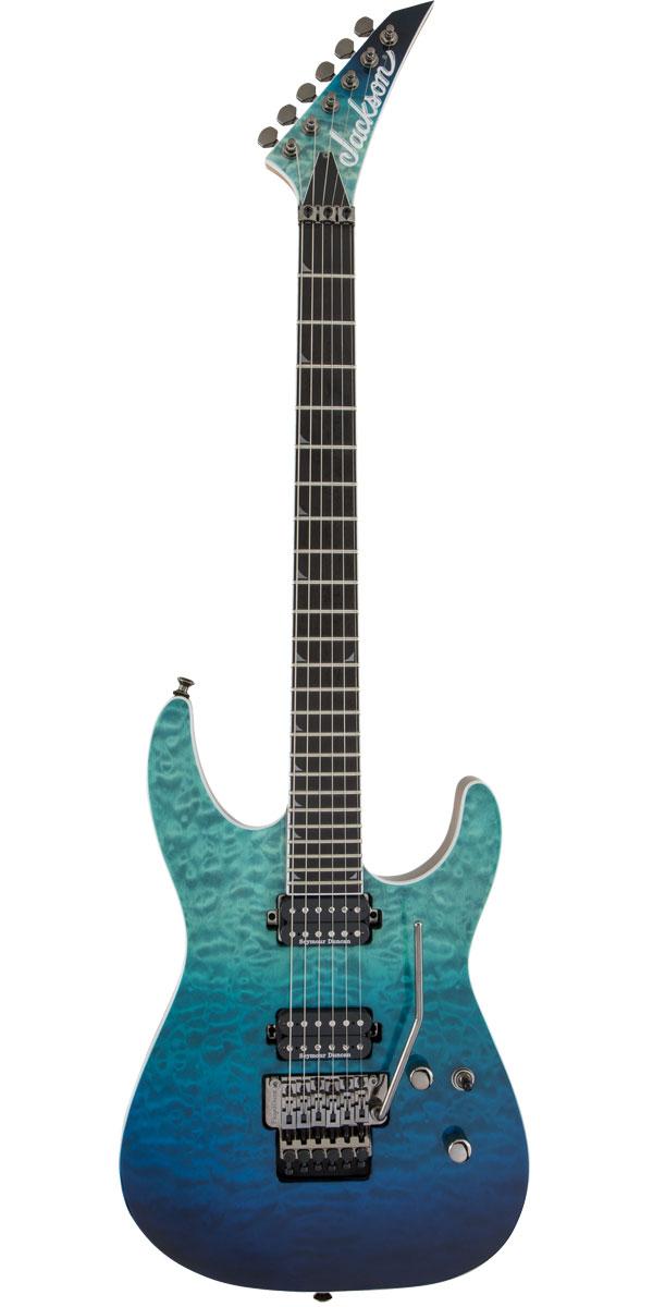 大幅値下げランキング Jackson ジャクソン Pro 再販ご予約限定送料無料 Series Soloist Caribbean SL2Q MAH Blue Fade