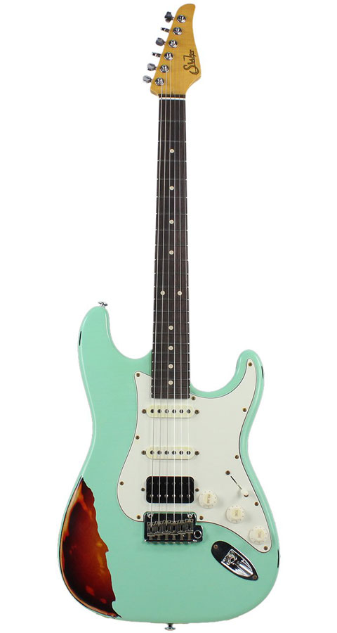 Suhr Guitars(サー・ギターズ)Limited Edition Classic Antique HSS Surf Green over 3 Tone Burst