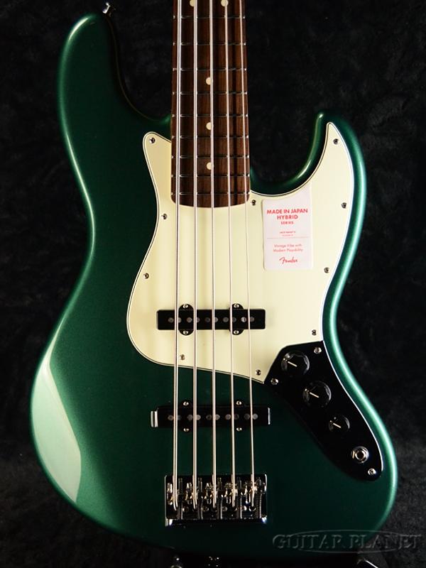 Fender Made in Japan Hybrid Jazz Bass V -Sherwood Green Metallic- 新品《レビューを書いて特典プレゼント!!》[フェンダージャパン][ハイブリッド][グリーン,緑][5strings,5弦][ジャズベース][Electric,エレキベース]