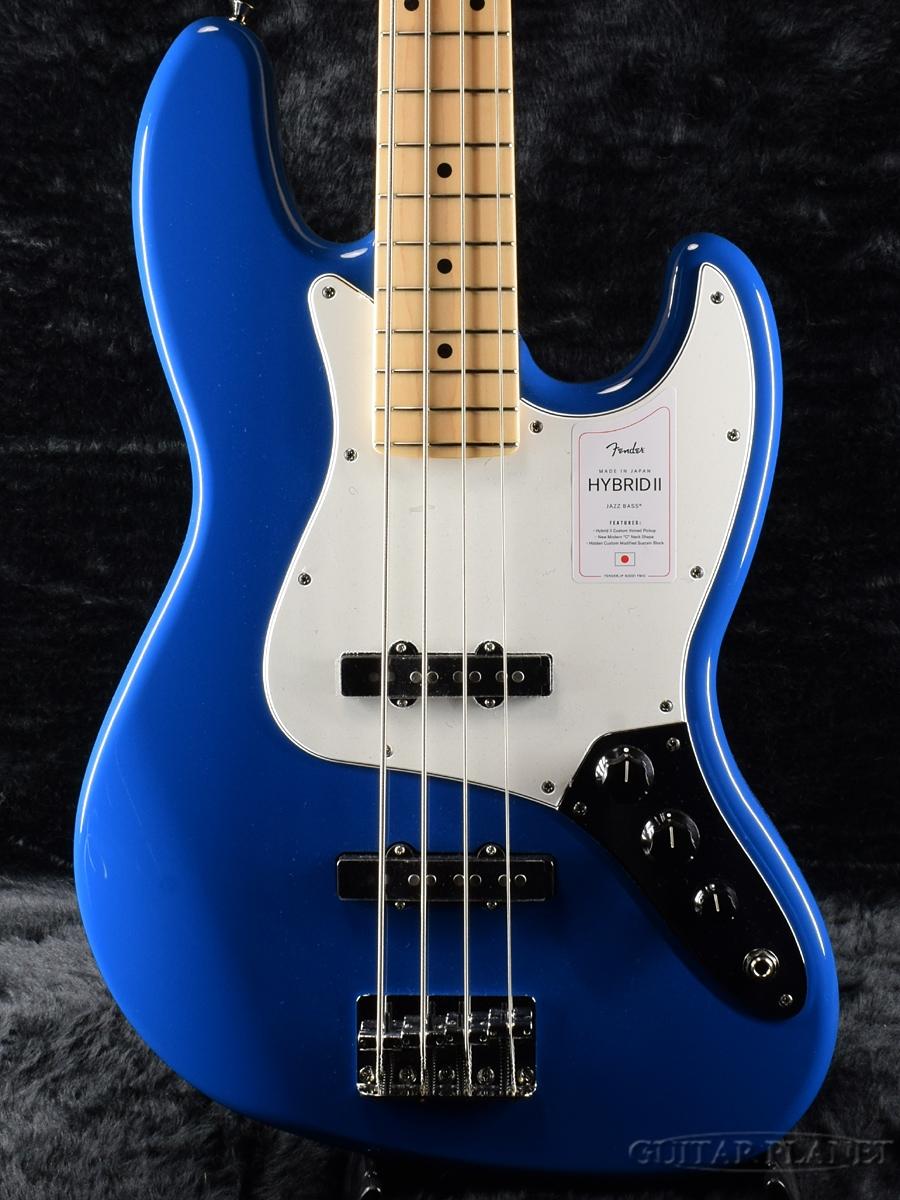 Fender Made In Japan Hybrid 実物 II Jazz Bass -Forest ブルー Blue フェンダージャパン Maple- 青 送料無料でお届けします ハイブリッド エレキベース Electric ジャズベース