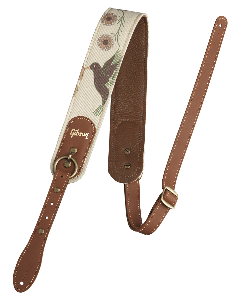 【純正品】Gibson The Hummingbird Premium Comfort Strap 新品 ギブソンレザーストラップ[Leather,革][ハミングバード][ギター/ベース用][ASPS-HB]