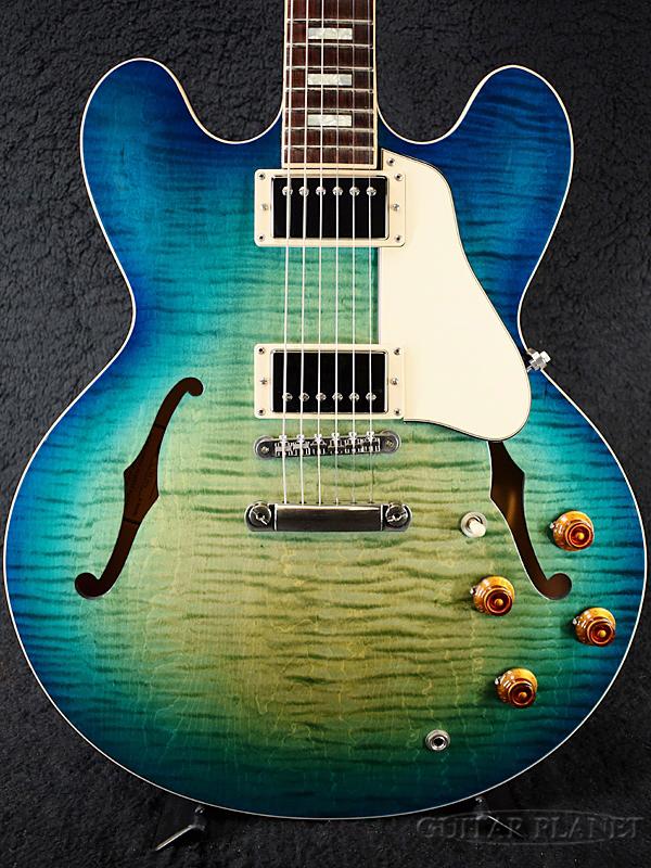 Gibson Memphis ES-335 Figured 2018 -Aquamarine- 新品[ギブソン][ES335][アクアマリン,ブルー,青][セミアコ][Electric Guitar,エレキギター]
