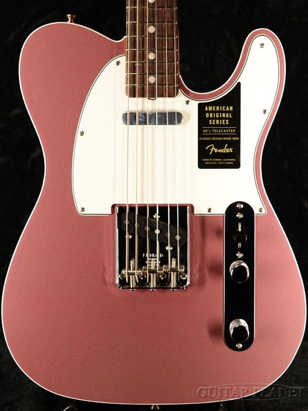 Fender USA American Original '60s Telecaster -Burgundy Mist Metallic- 新品[フェンダー][アメリカンオリジナル][Pink,バーガンディミスト,ピンク][テレキャスター][Electric Guitar,エレキギター]