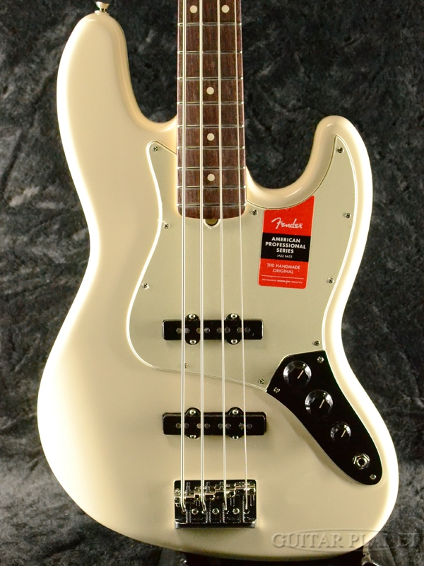 Fender USA American Professional Jazz Bass -Olympic White/Rosewood- 新品[フェンダー][アメリカンプロフェッショナル,アメプロ][ジャズベース][オリンピックホワイト,白][Electric Bass,エレキベース]