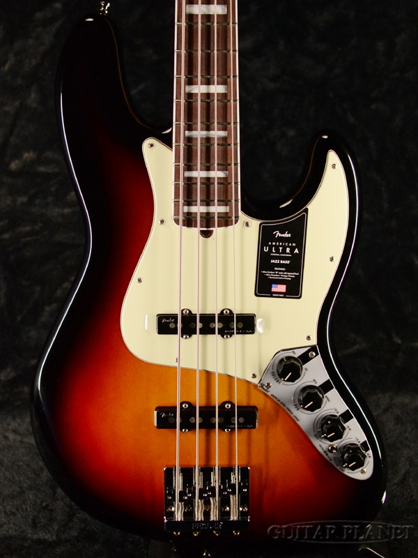Fender USA American Ultra Jazz Bass -Ultraburst / Rosewood- 新品[フェンダー][アメリカンウルトラ][Sunburst,ウルトラバースト,サンバースト][ローズウッド][ジャズベース][Electric Bass,エレキベース]