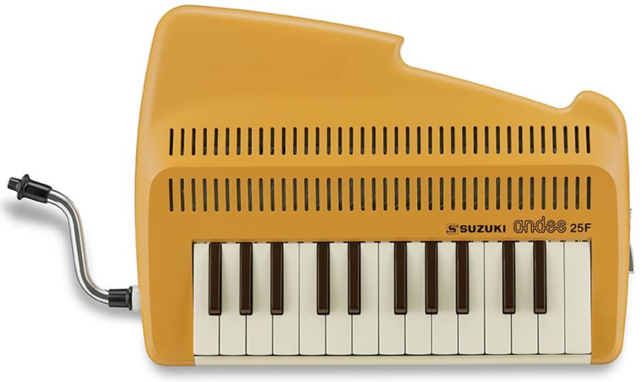 SUZUKI andes25F Latte(ラテ) 新品 吹奏鍵盤リコーダー [スズキ][アンデス][25鍵盤][鍵盤ハーモニカ]