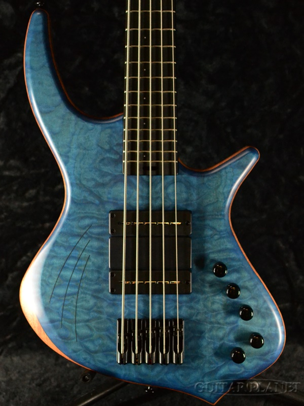 Cortex Bass Napoleon Deluxe 5 -Quilt Maple Top w/ Finger Ramp , Diffusors- 新品[Blue,ブルー,青][Electric Bass,エレキベース]
