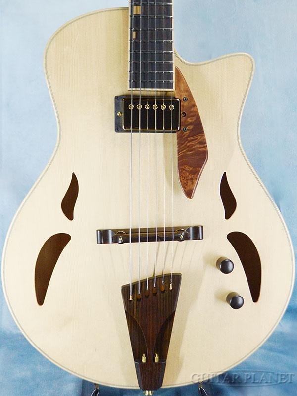 【当店オーダー品】Yamaoka Archtop Guitars Strings Art JG-1 -Mono tone-【2.47kg】 新品[山岡則正][ナチュラル][フルアコ][Electric Guitar,エレキギター]