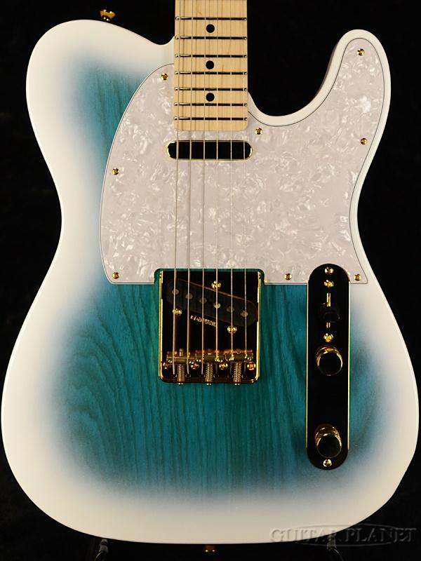 【オールラッカー塗装】ZEUS ZTL-CTM ASH/M WBBS 新品[ゼウスカスタムギターズ][国産][Telecaster,テレキャスタータイプ][White,Blue,ホワイト,ブルー,白,青][Electric Guitar,エレキギター]
