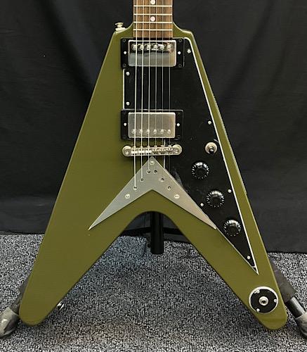 Epiphone Flying V -Olive Drab Green- 新品 永遠の定番モデル 20111528978 オリーブダークグリーン 3.17kg 大幅にプライスダウン Electric 緑 エレキギター エピフォン Guitar フライングV