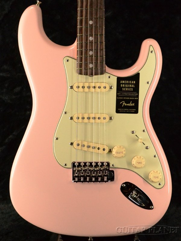 Fender USA American Original 60s Stratocaster - Shell Pink- 新品[フェンダー][アメリカンオリジナル][シェルピンク][ストラトキャスター][Electric Guitar,エレキギター]
