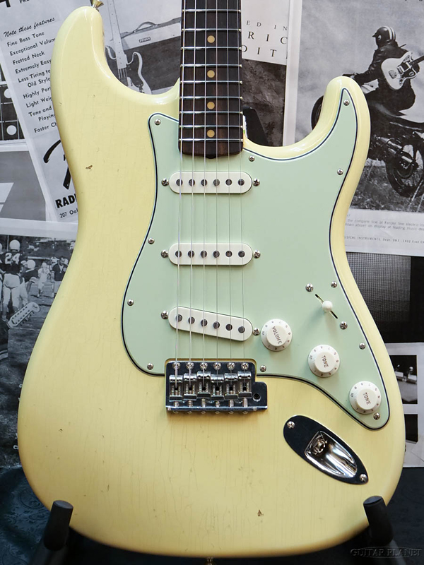 Fender Guitar Planet Exclusive Hand Select 1963 Stratocaster Journeyman Relic -Aged Vintage White- 新品[フェンダーカスタムショップ][ストラトキャスター][ヴィンテージホワイト,白][Electric Guitar,エレキギター]