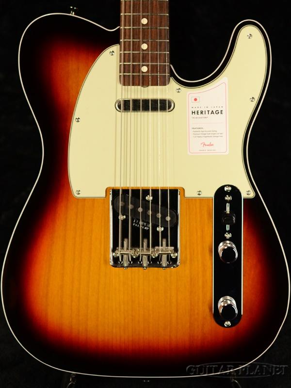 Fender Made In Japan Heritage 60 Telecaster Custom-3-Color Sunburst- 新品[フェンダージャパン][ラッカー][サンバースト][テレキャスター][Electric Guitar,エレキギター]