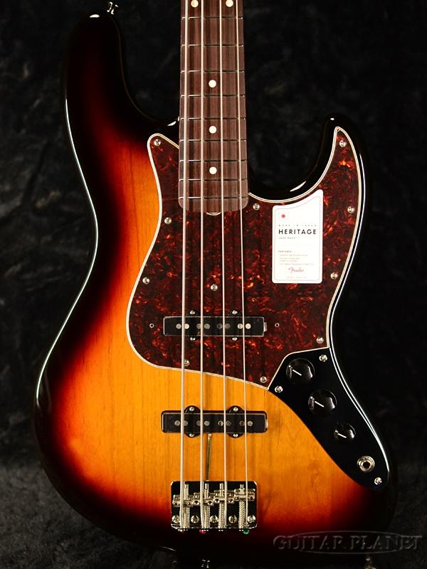 Fender Made In Japan Heritage 60s Jazz Bass -3-Color Sunburst- 新品[フェンダージャパン][ヘリテージ][サンバースト][ジャズベース][Electric Bass,エレキベース]