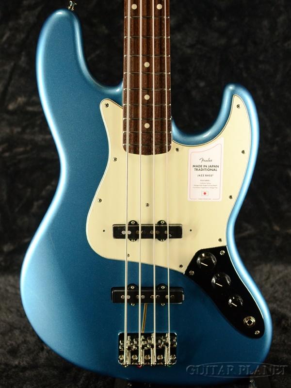 【NEW MODEL】Fender Made In Japan Traditional 60s Jazz Bass -Lake Placid Blue- 新品[フェンダージャパン][トラディショナル][レイクプラシッドブルー,青][ジャズベース][Electric Bass,エレキベース]