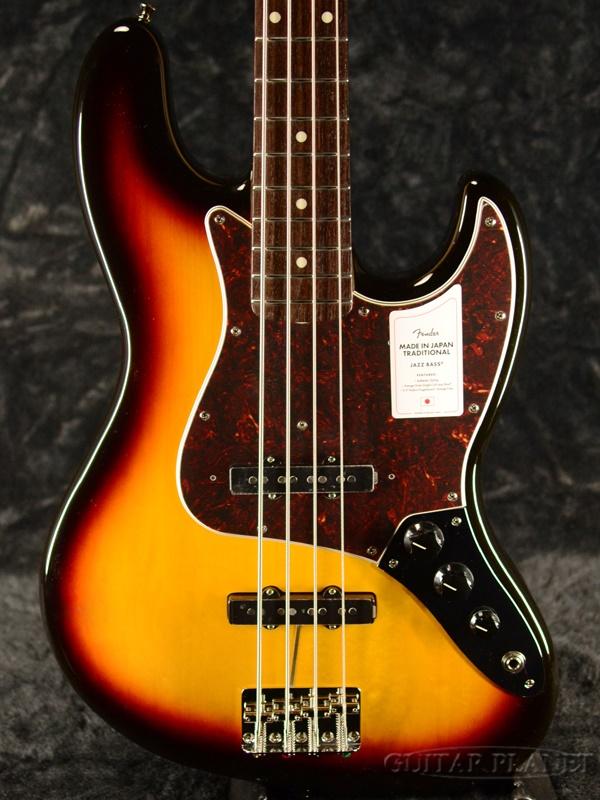 【NEW MODEL】Fender Made In Japan Traditional 60s Jazz Bass -3-Color Sunburst- 新品[フェンダージャパン][トラディショナル][サンバースト][ジャズベース][Electric Bass,エレキベース]