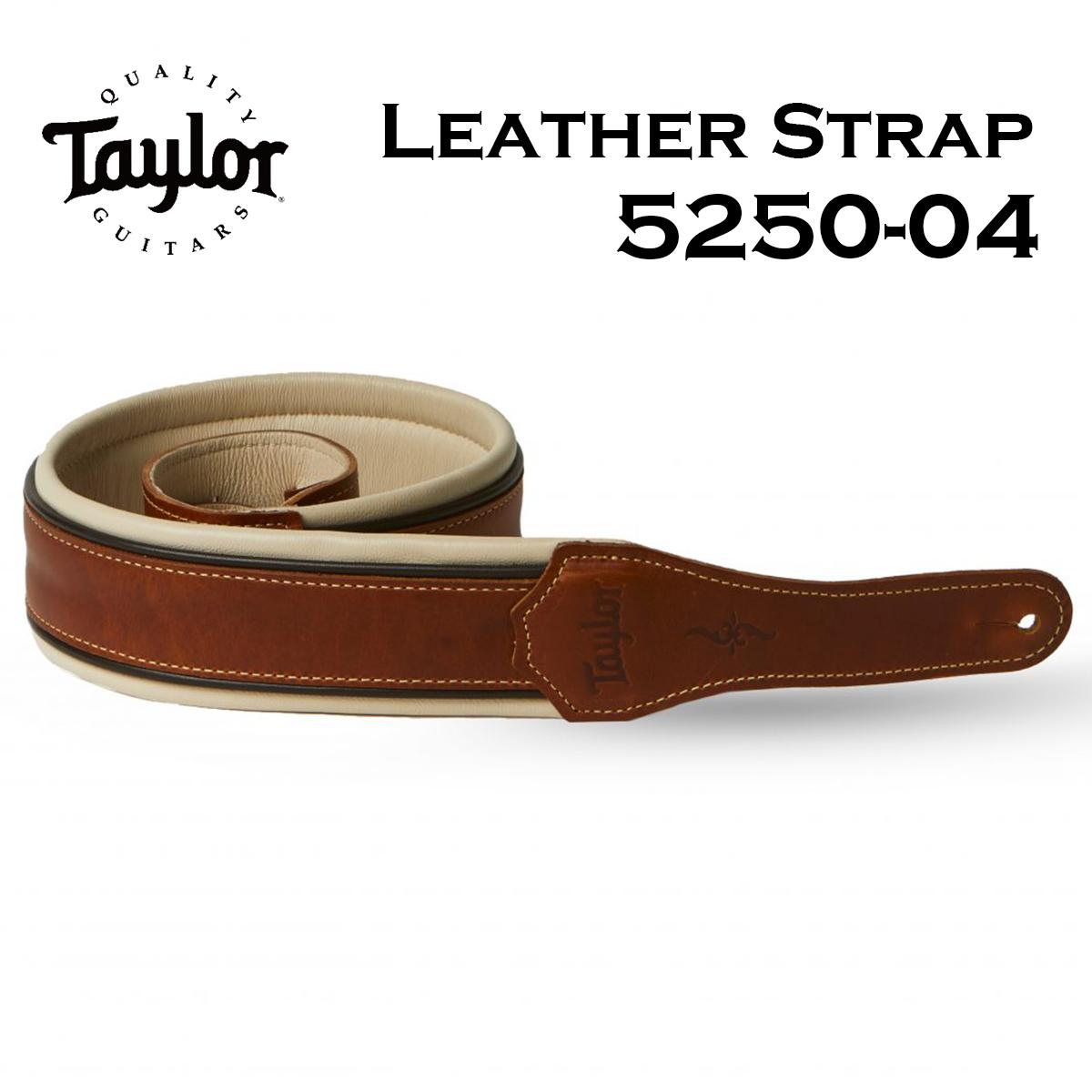 無料 Taylor 5250-04 Century Strap Cordovan 新品 低廉 レザーストラップ 茶 ベース用 Brown ギター ブラウン テイラー Leather