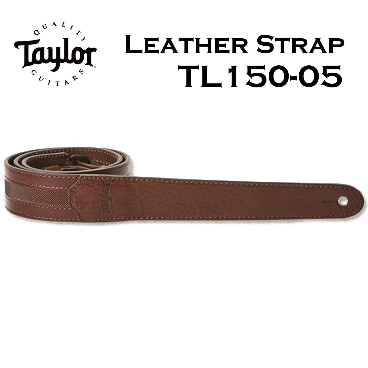 Taylor TL150-05 Slim Leather Strap Chocolate Brown 1.6