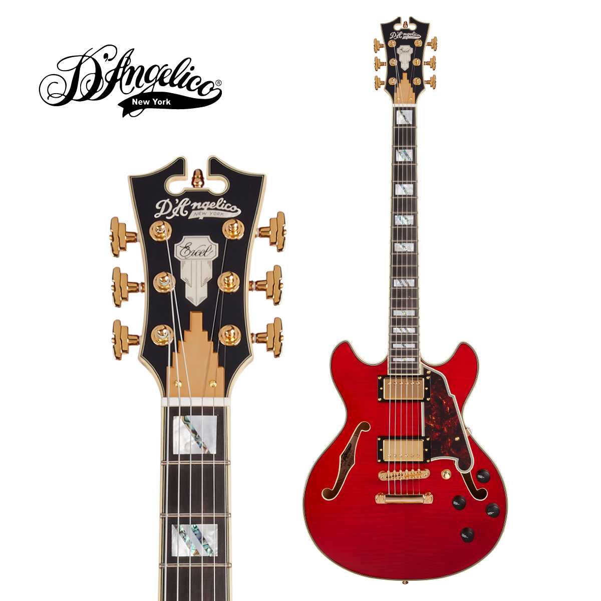 D'Angelico -Excel Series Excel Mini DC -Trans Cherry-[ディアンジェリコ][Red,チェリー,レッド,赤]Electric Guitar,エレキギター]