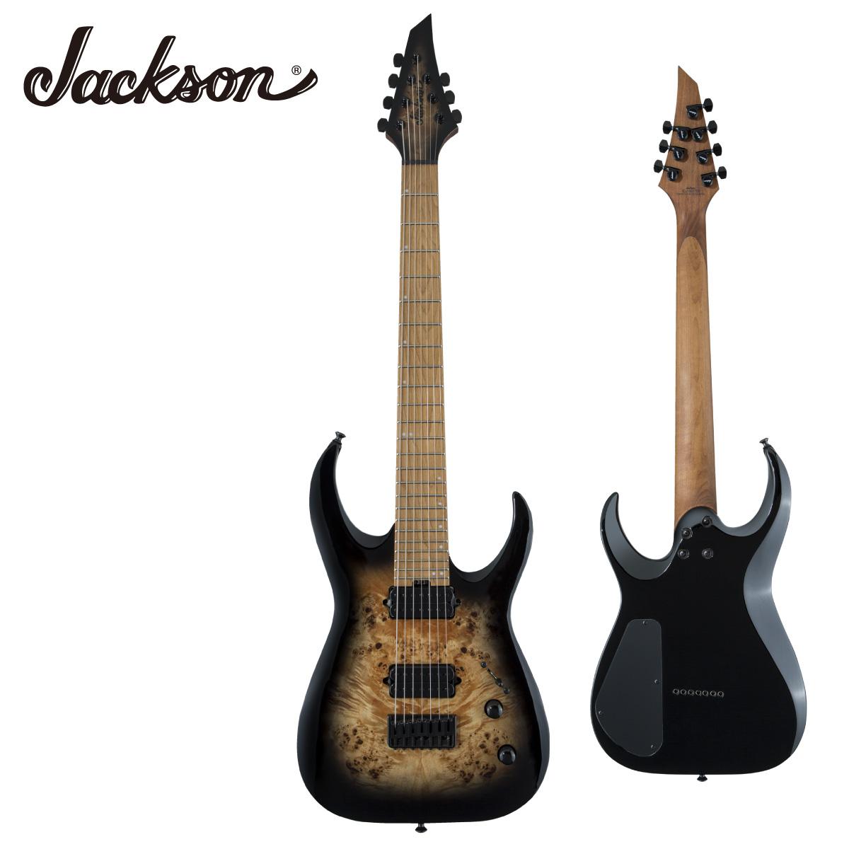 Jackson 本物 Pro Series 海外並行輸入正規品 Signature Misha Mansoor Juggernaut HT7P -Black Burst Burl- Guitar ミーシャ ジャクソン ポプラバール 新品 Electric 黒 ブラックバースト ペリフェリー マンソー エレキギター