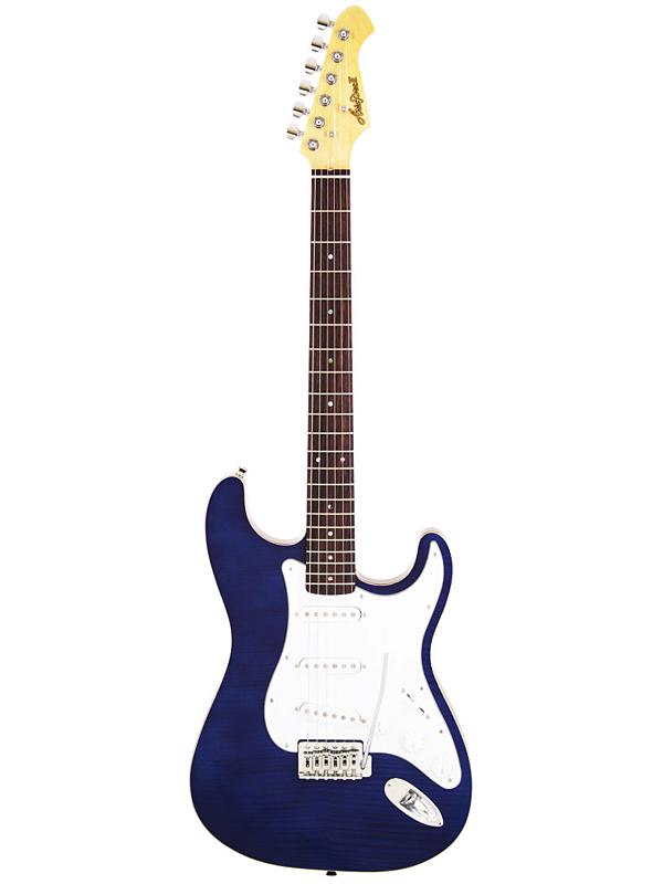 Aria Pro II TSTG-STD SBL 新品 シースルーブルー [アリアプロ2][国産][See Through Blue,青][Stratocaster,ストラトキャスタータイプ][Electric Guitar,エレキギター]