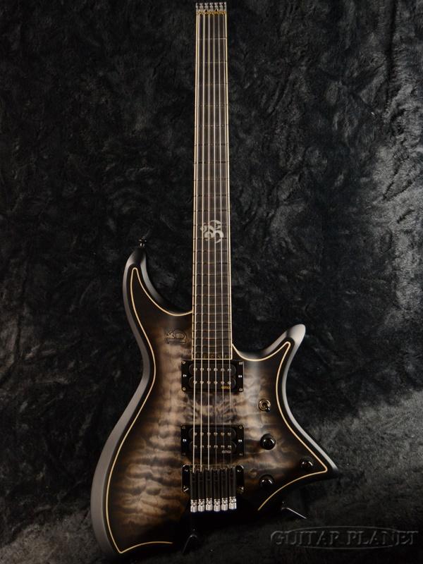 【7月限定大特価!!】【当店カスタムオーダー品】b3 RingMaster Pallas 6 -Transparent Black- 新品[リングマスター][ジーン・ベイカー][トランスブラック,黒][Electric Guitar,エレキギター]