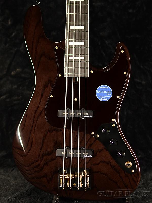 【限定カラー】Bacchus WOODLINE417 AC BGP -STN- 新品[バッカス][国産][シースルーナイト,黒][Jazz Bass,ジャズベース][Electric Bass,エレキベース]