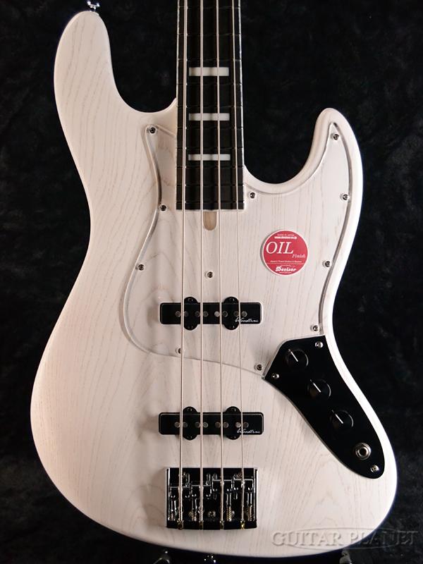 【特注オーダーカラー】Bacchus WOODLINE 417/GP -White oil- 新品[バッカス][国産][ホワイトオイル,白][Jazz Bass,ジャズベースタイプ][Electric Bass,エレキベース]