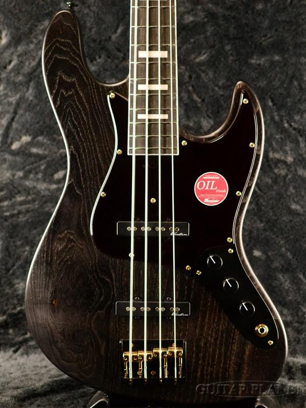 Bacchus WOODLINE417 BGP -Black Oil- 新品[バッカス][国産][Black & Gold Package][ブラックオイル,黒][Jazz Bass,ジャズベース][Electric Bass,エレキベース]